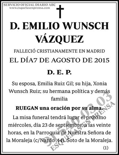 Emilio Wunsch Vázquez